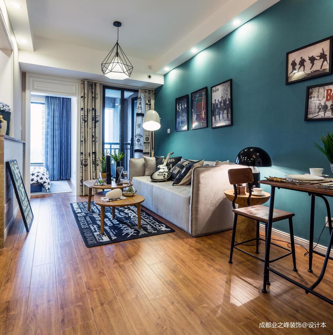 質樸31平現代小戶型客廳效果圖片大全