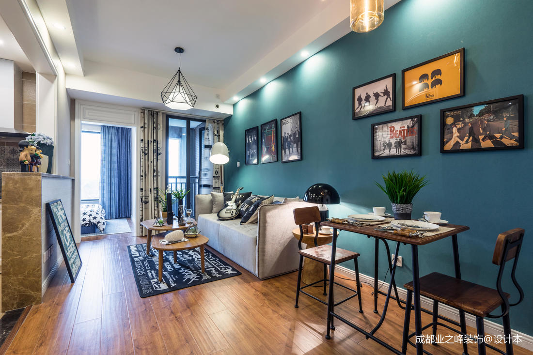 質樸35平現代小戶型客廳效果圖片大全