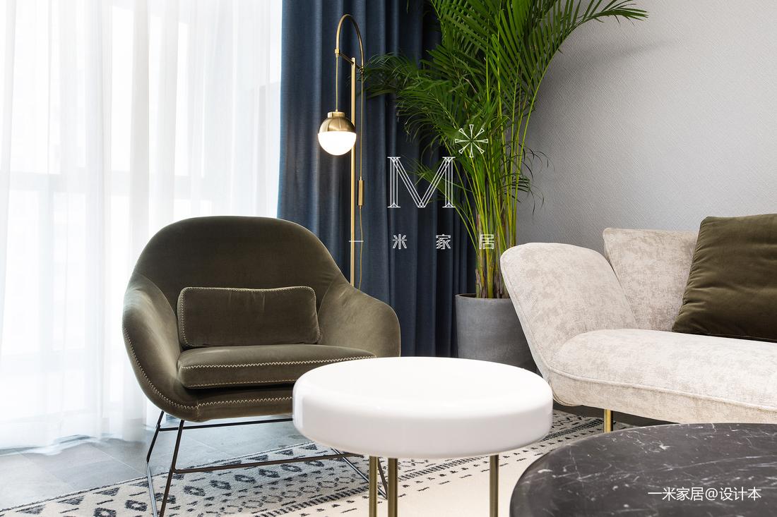 典雅88平现代二居客厅实拍图