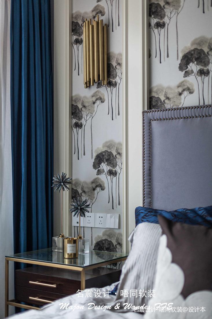 质朴78平美式复式卧室装饰美图