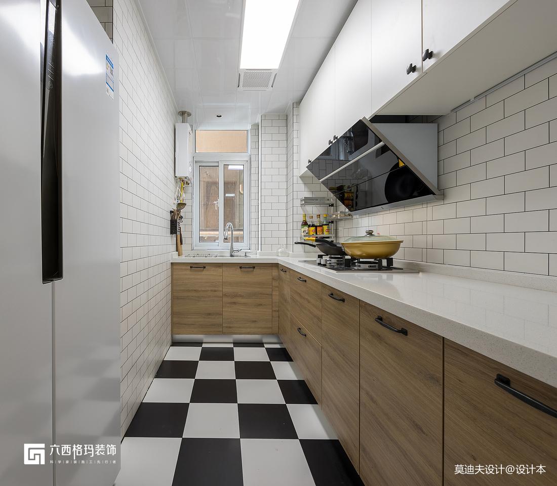黑白北欧厨房设计图