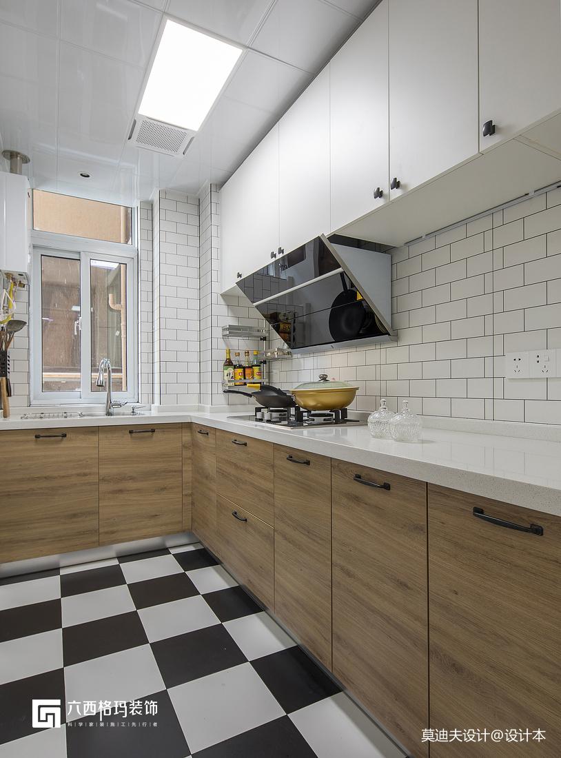 木色橱柜北欧厨房设计图