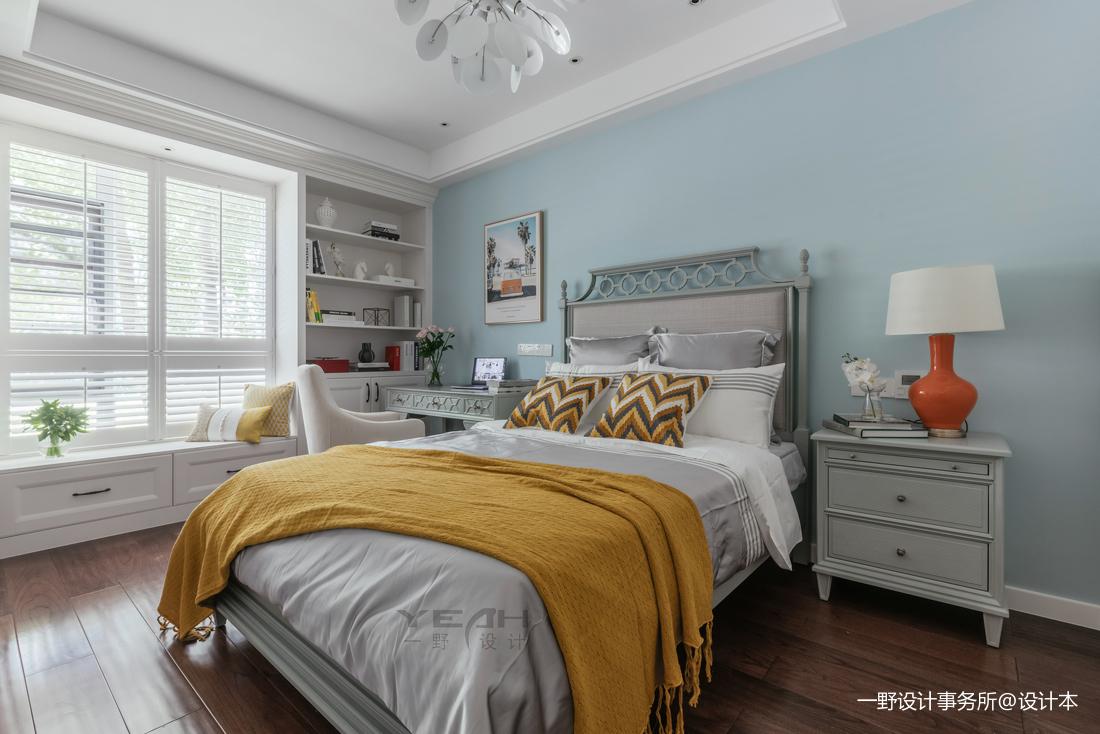 明亮77平美式二居卧室实景图片