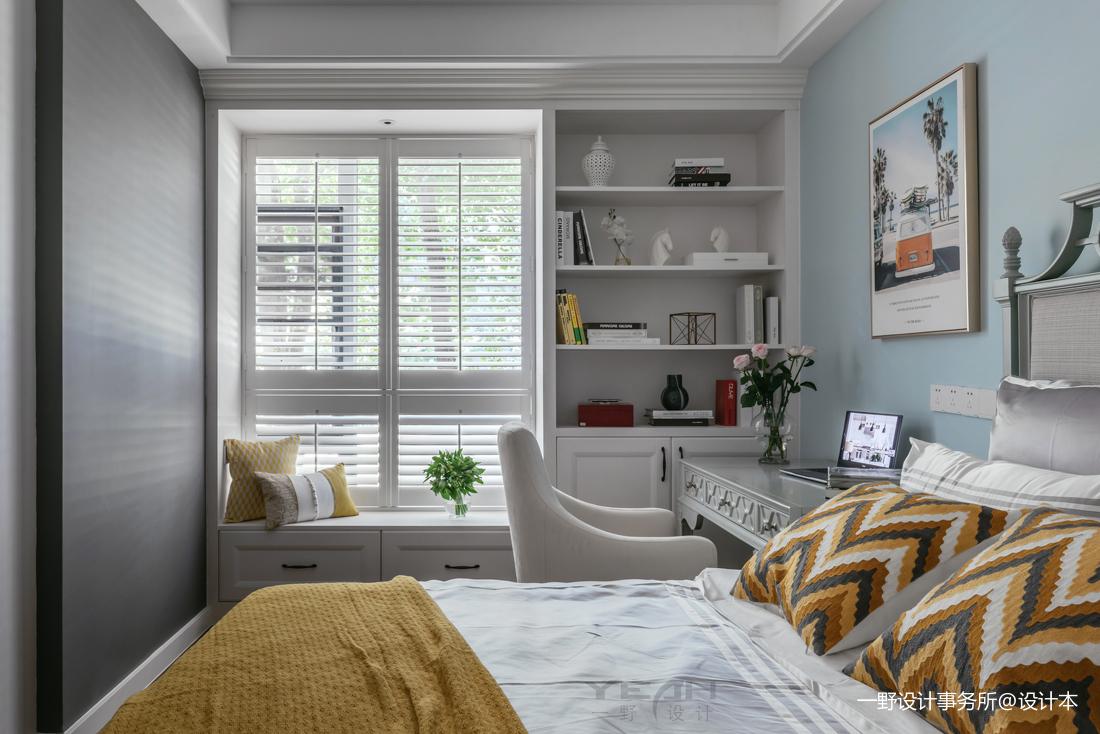 华丽76平美式二居卧室装饰美图