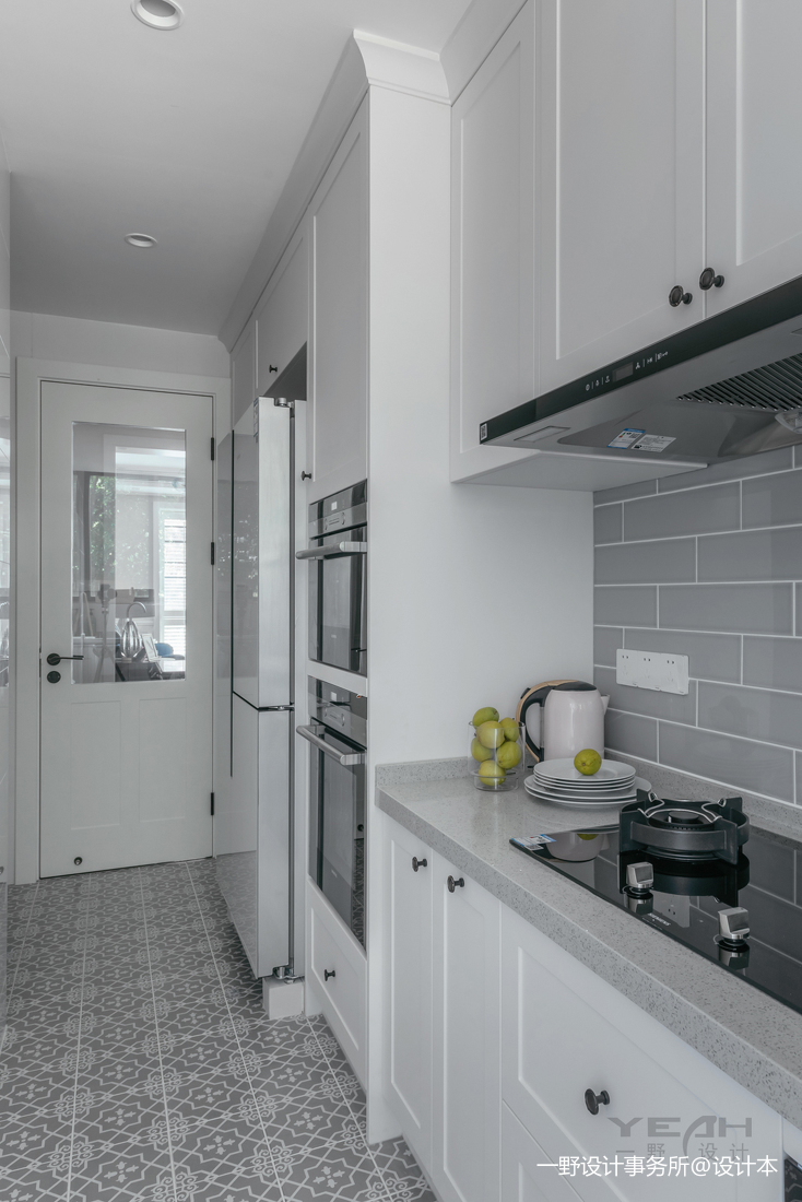 典雅53平美式二居厨房实景图片