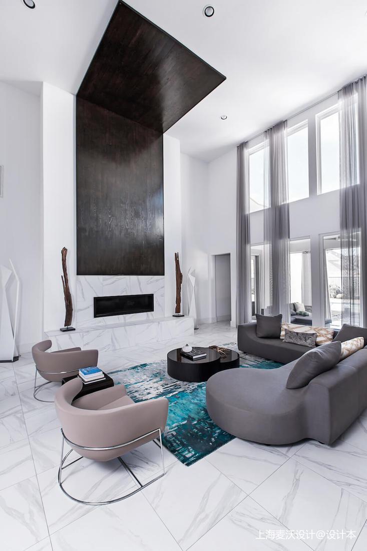 优雅52平北欧复式客厅装修图片