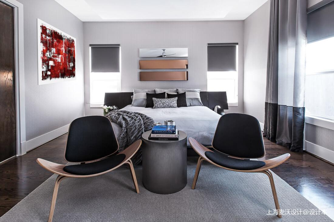 轻奢57平北欧复式卧室装修图
