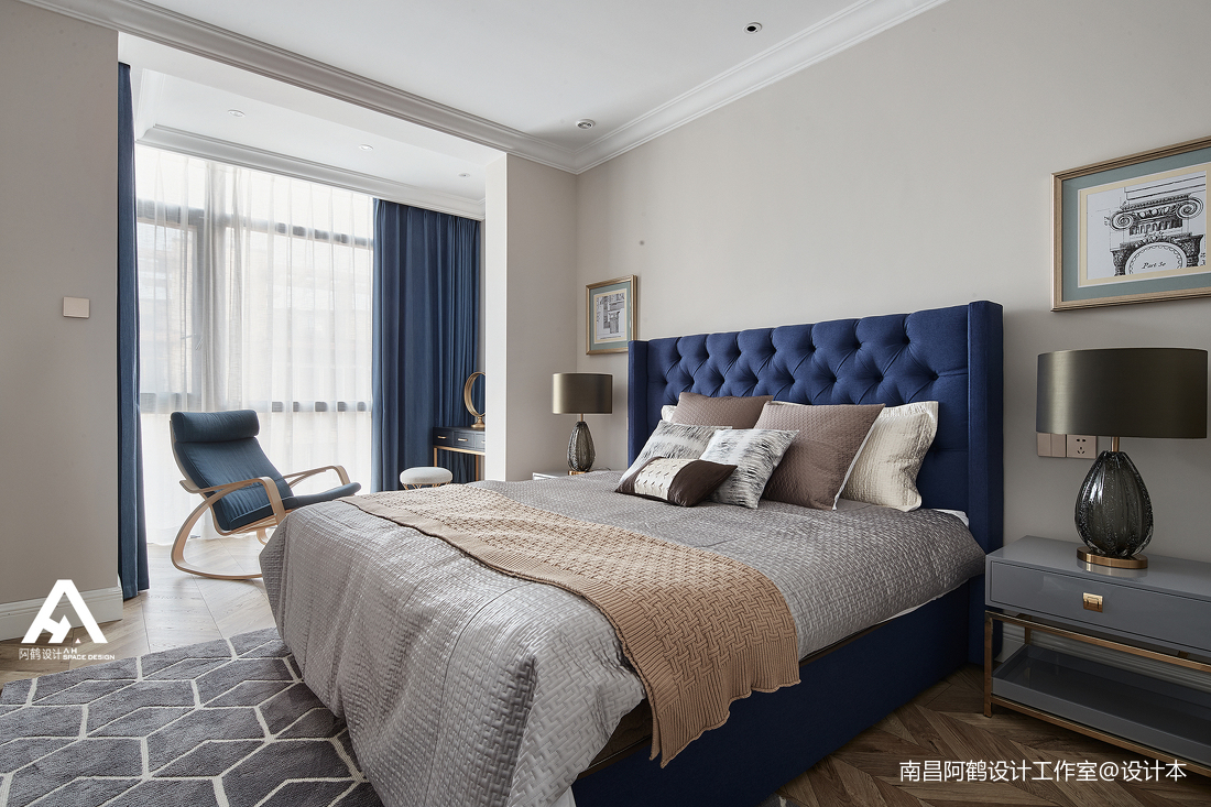 简洁45平混搭复式卧室案例图