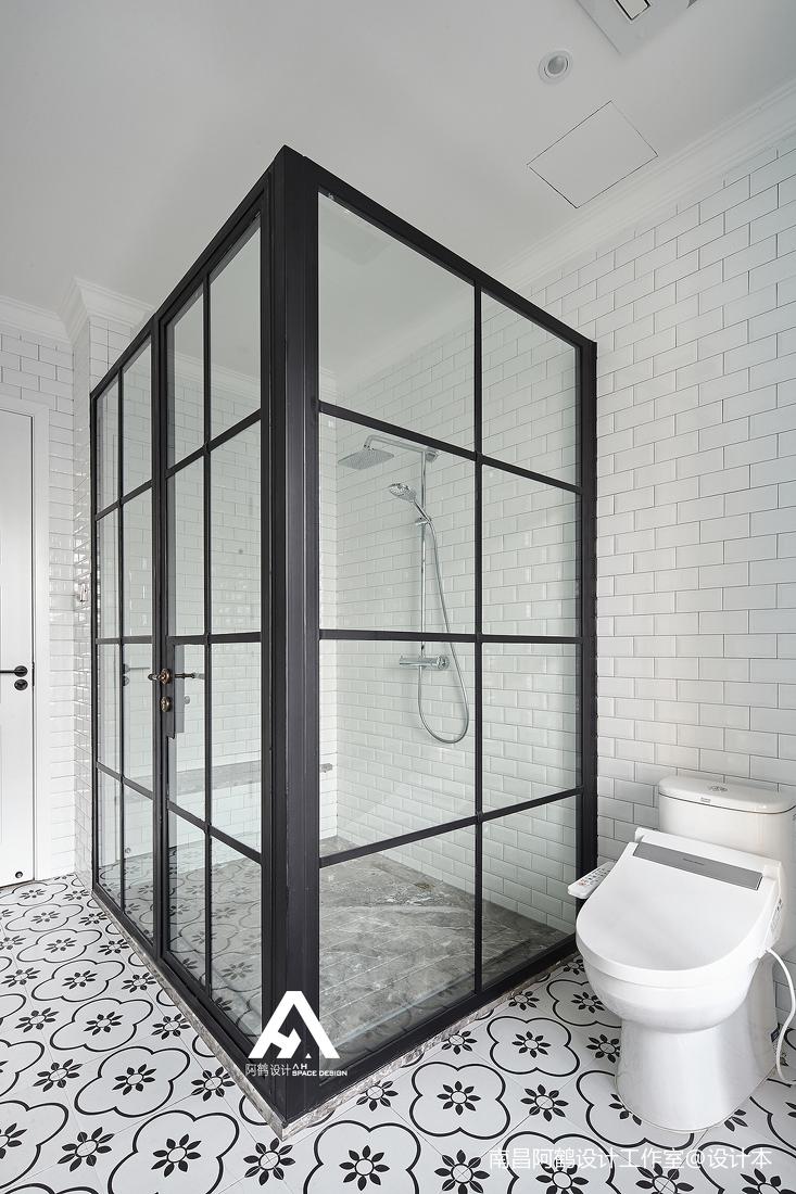 精致59平混搭复式卫生间装修设计图