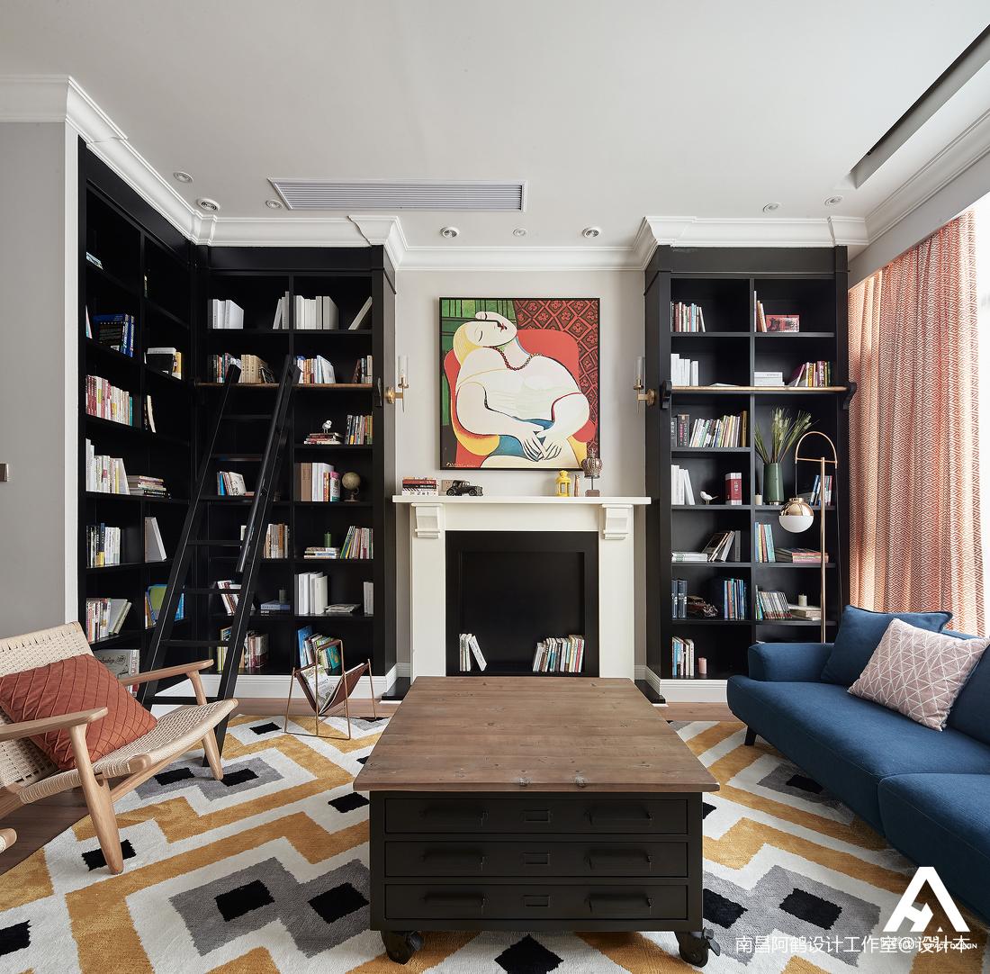 典雅240平混搭复式客厅装饰图片