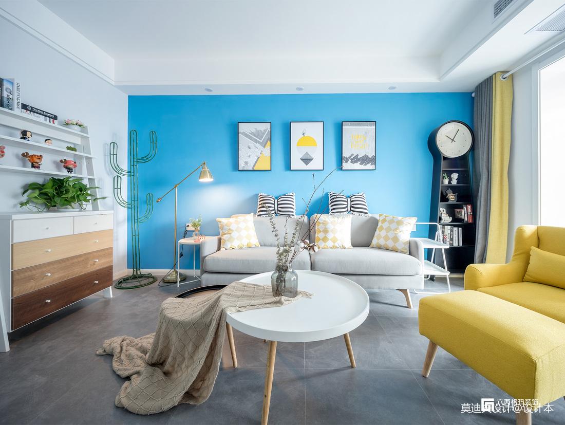 《拾趣》三居住宅北欧风格客厅装饰设计图