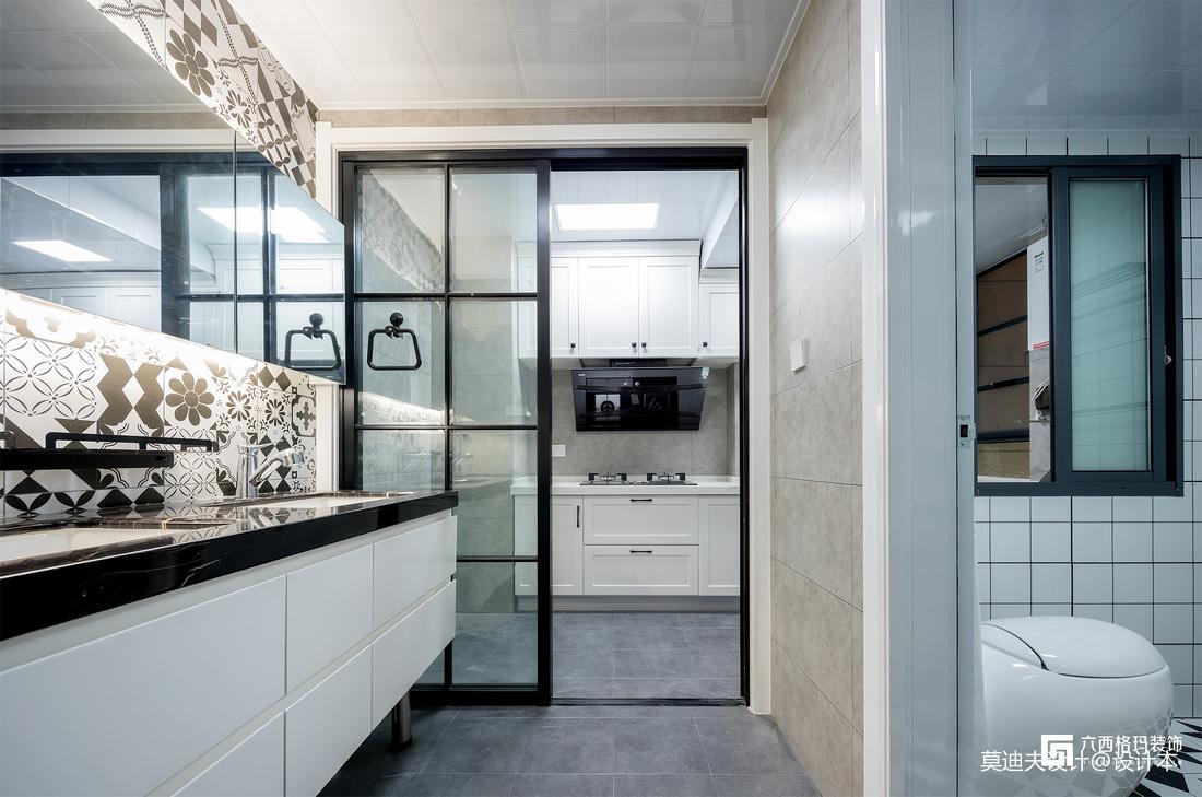 《拾趣》三居住宅北欧风格干湿分离卫浴装饰设计图