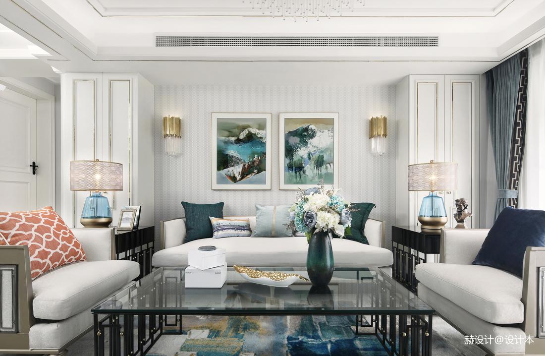 浪漫126平美式三居客厅装饰美图