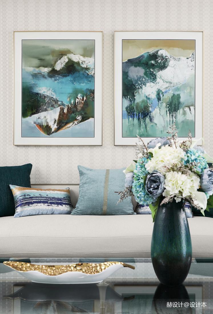 温馨76平美式三居客厅图片大全