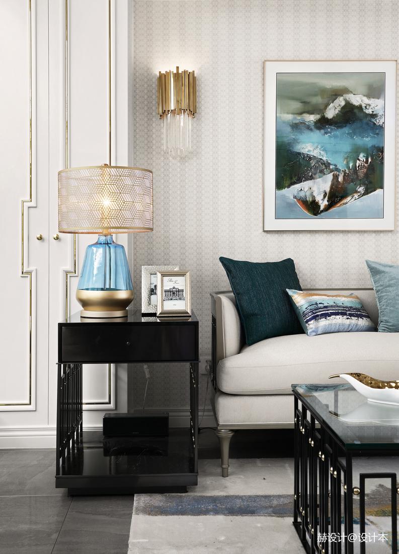精致113平美式三居客厅装修美图