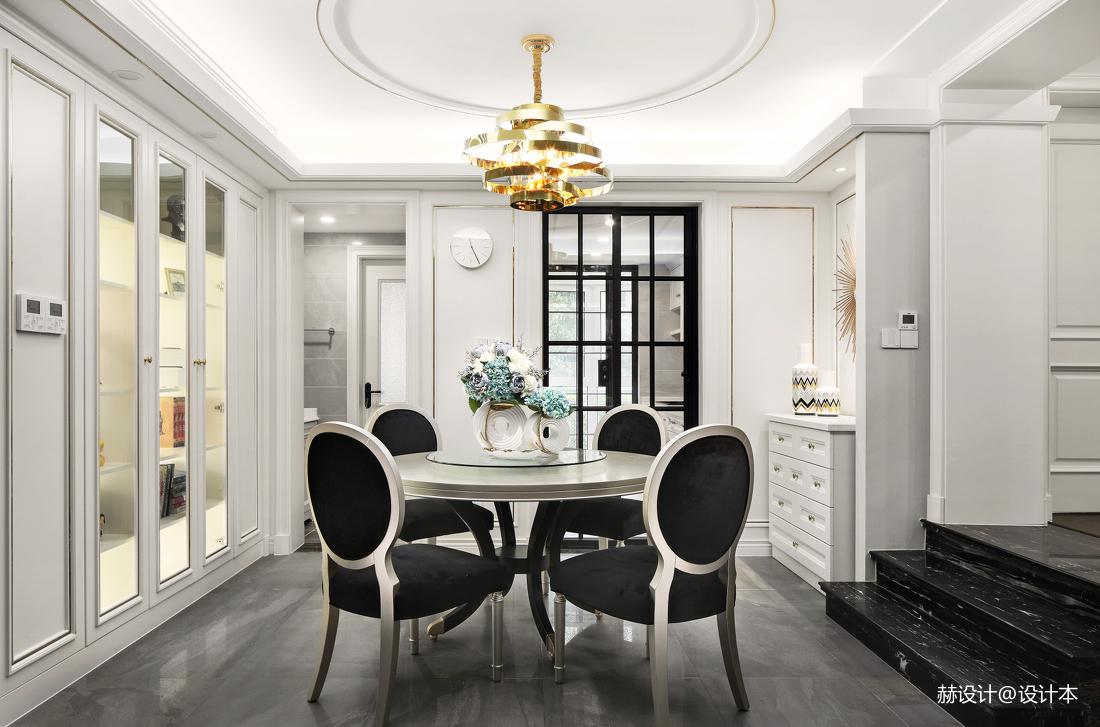 简洁106平美式三居餐厅装饰美图