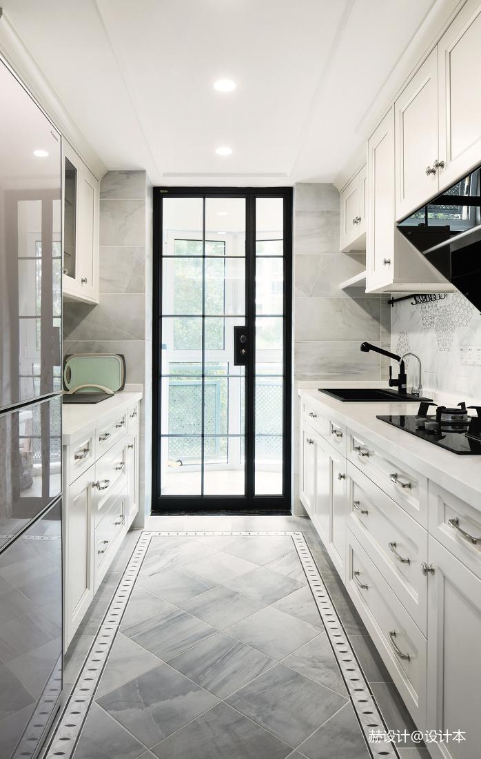 温馨103平美式三居厨房装修美图