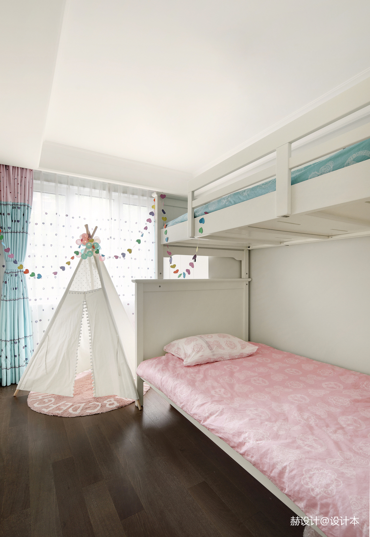 轻奢95平美式三居儿童房装潢图