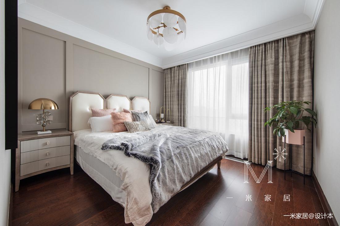 明亮113平美式三居卧室装修图片