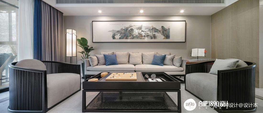 201978平中式三居客厅美图