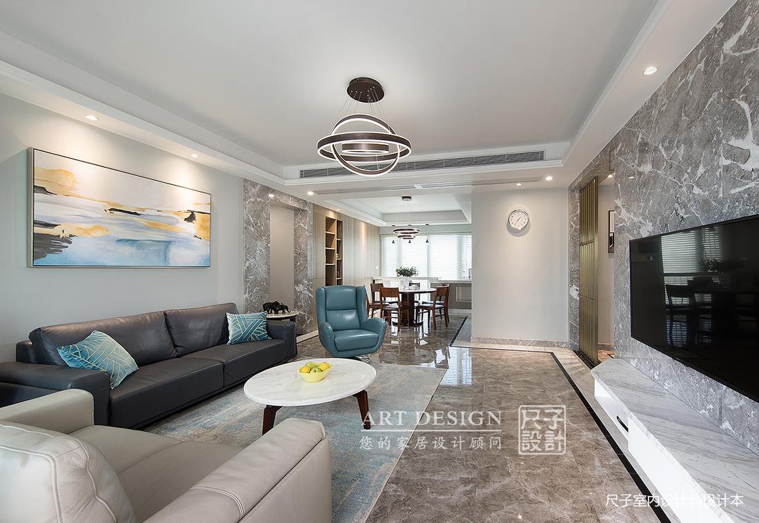 向往的生活四居住宅美式风格客厅装饰设计图