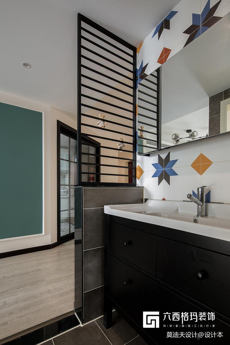 二居住宅空间北欧风干湿分离卫浴装饰设计图