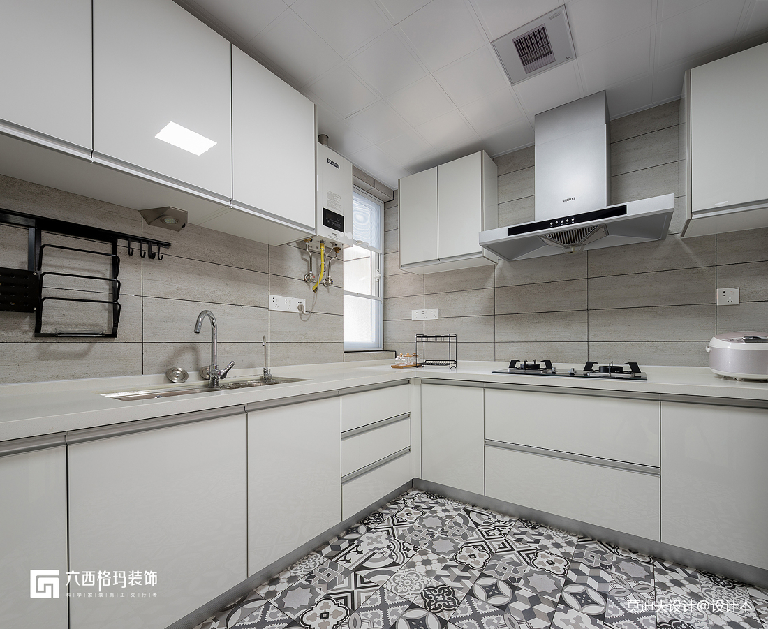 二居住宅空间北欧风美观耐脏厨房装饰设计图