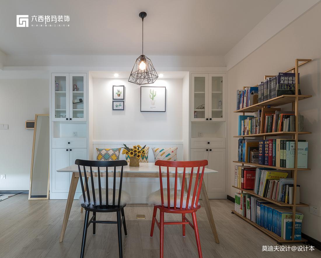 二居住宅空间北欧风多功能餐厅装饰设计图