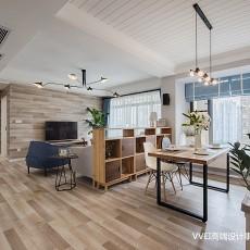 质朴90平现代三居客厅设计图