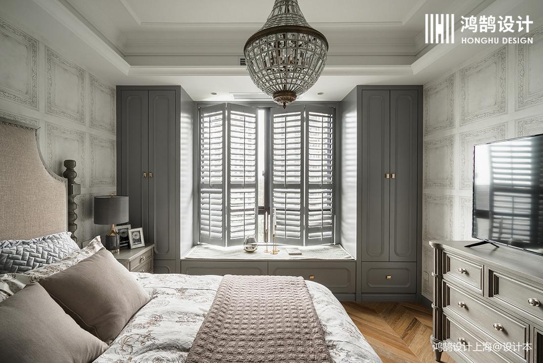 浪漫96平法式四居卧室设计案例
