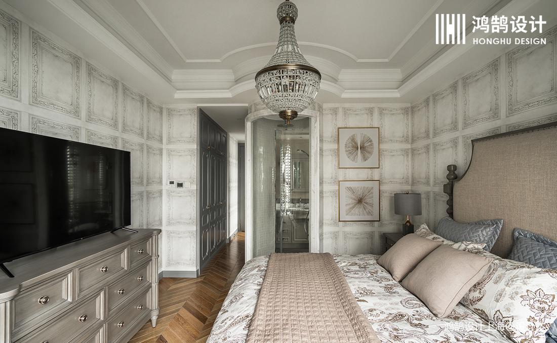 华丽152平法式四居卧室实拍图
