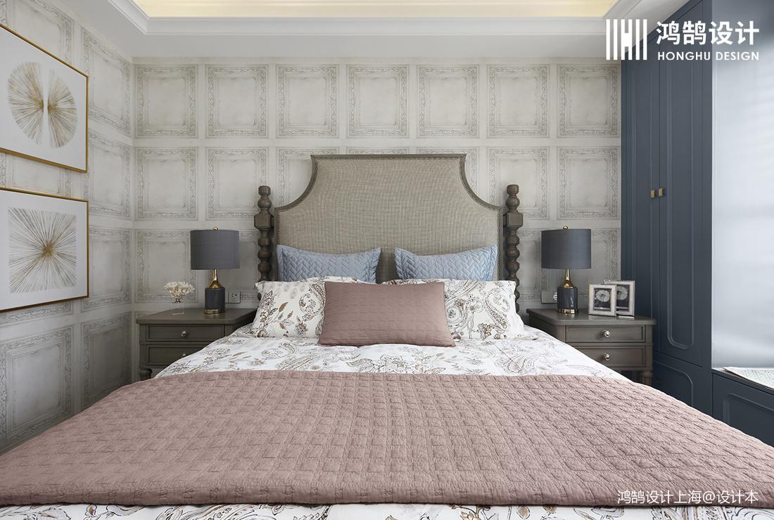 简洁118平法式四居卧室装饰图片