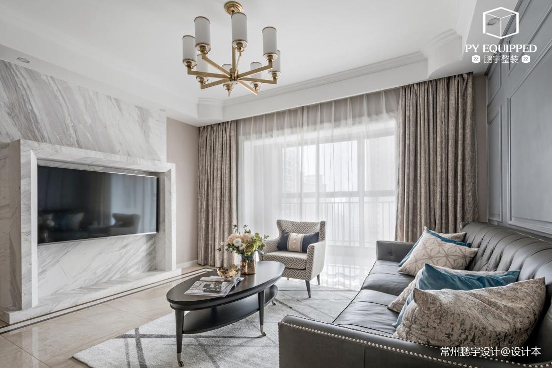 典雅126平美式三居客厅图片欣赏
