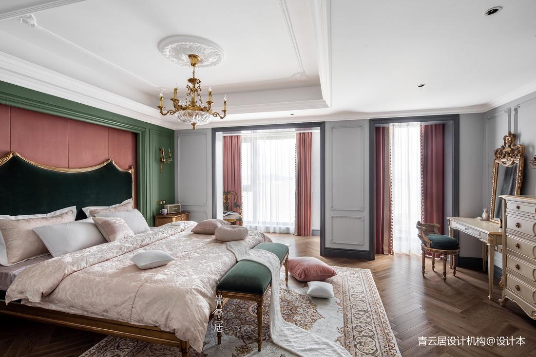 优雅95平法式四居卧室装修设计图