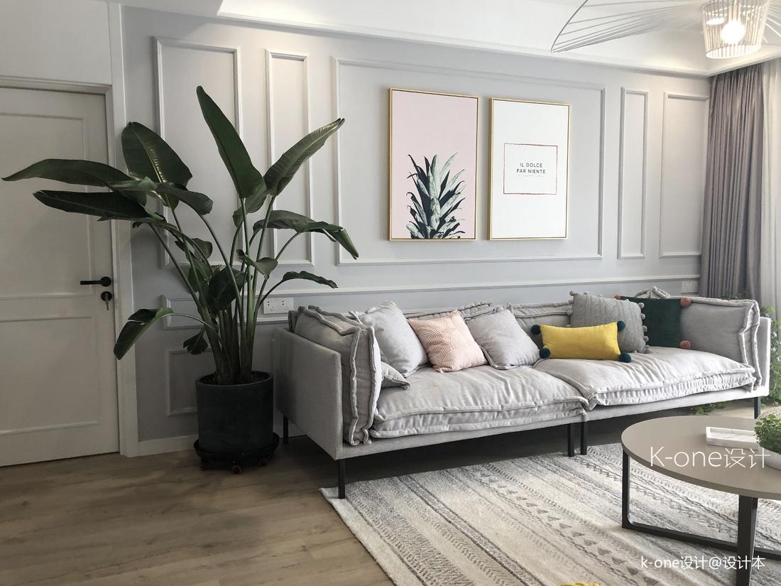 优美170平北欧四居客厅装饰图