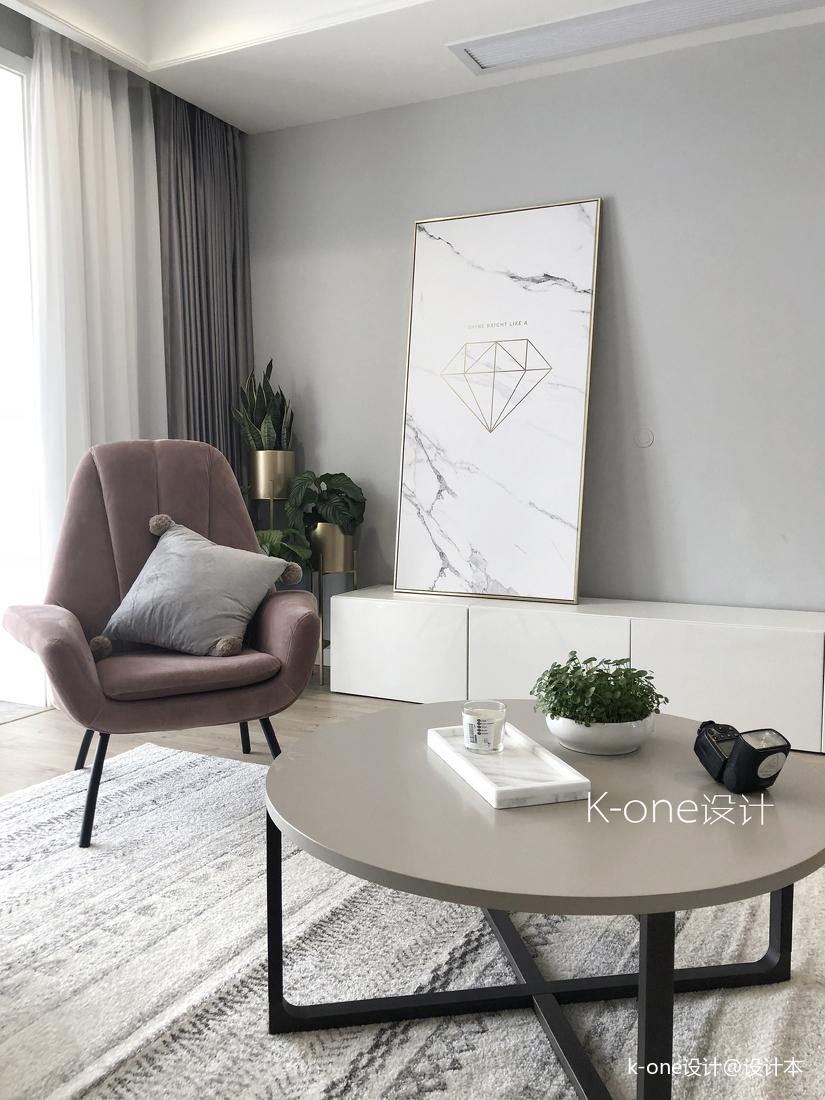 典雅124平北欧四居客厅装饰图