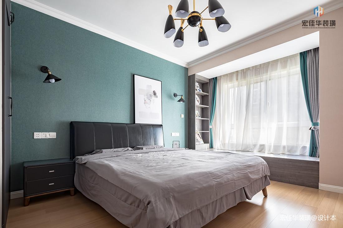 华丽125平现代三居卧室图片欣赏