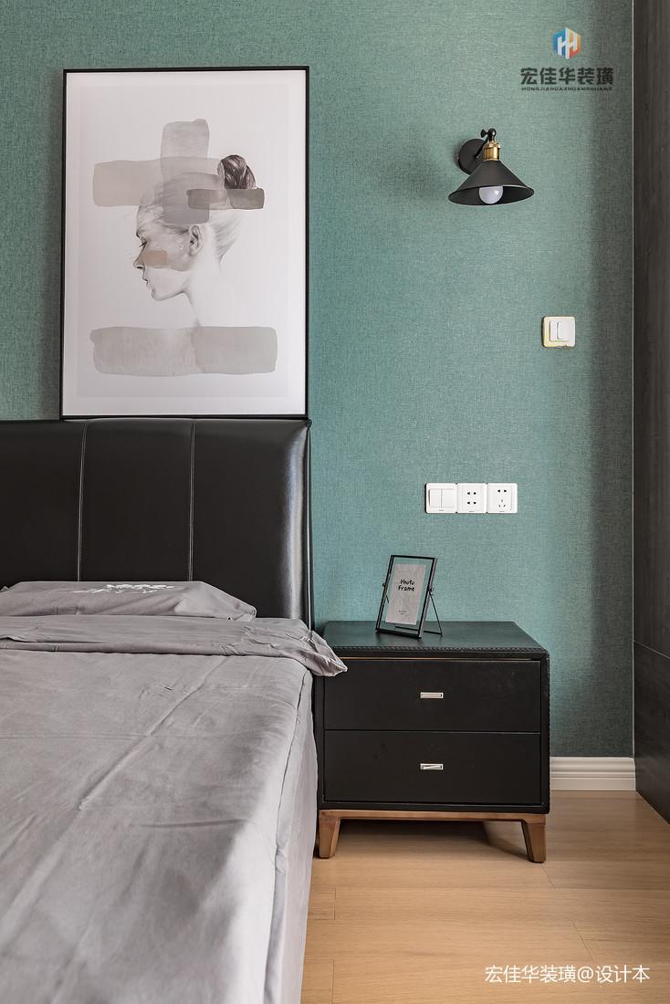 201974平现代三居卧室设计图