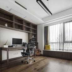 优美123平现代四居书房装修设计图