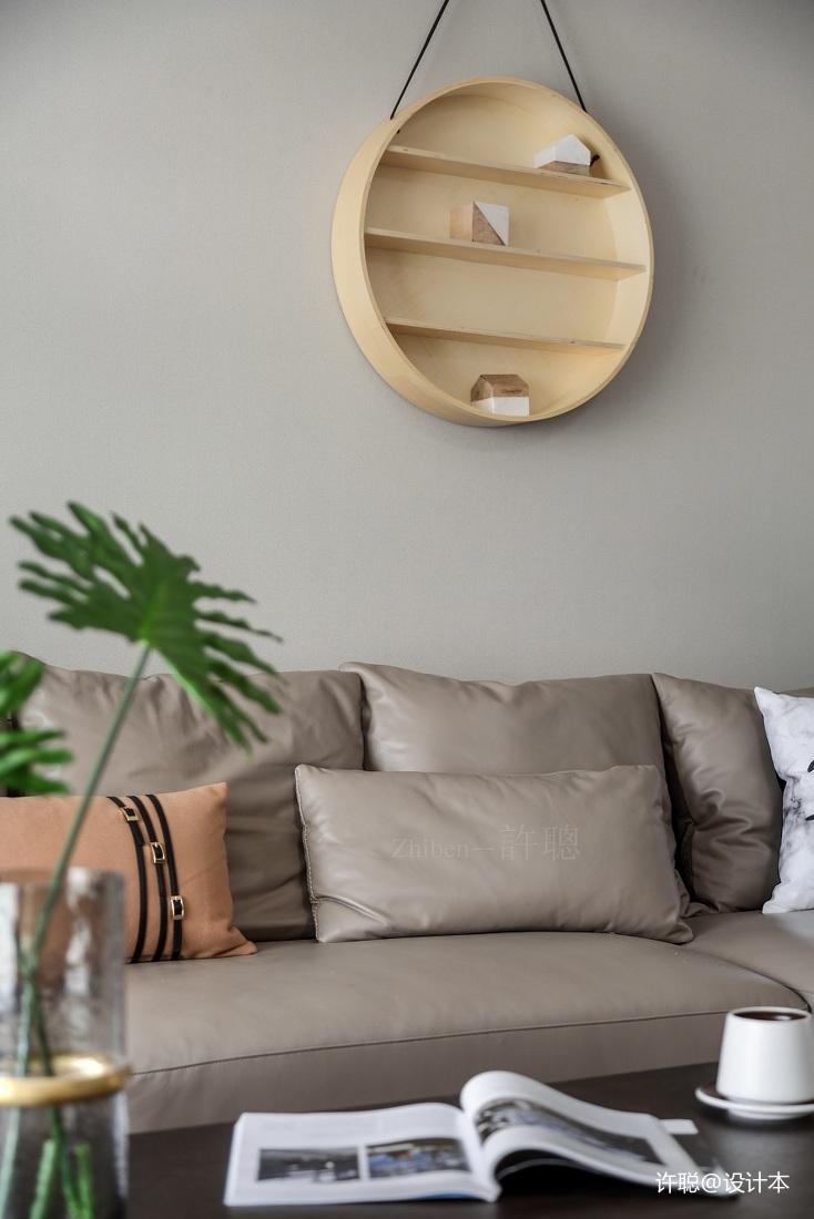 典雅87平现代三居客厅布置图