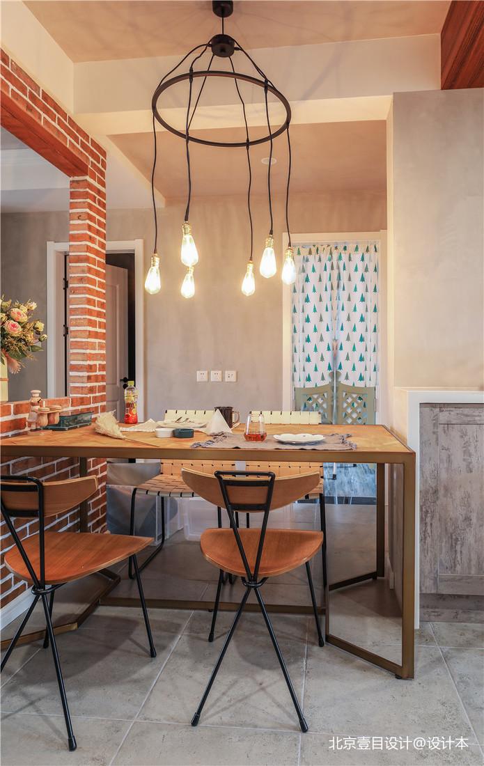 质朴109平北欧三居餐厅设计效果图