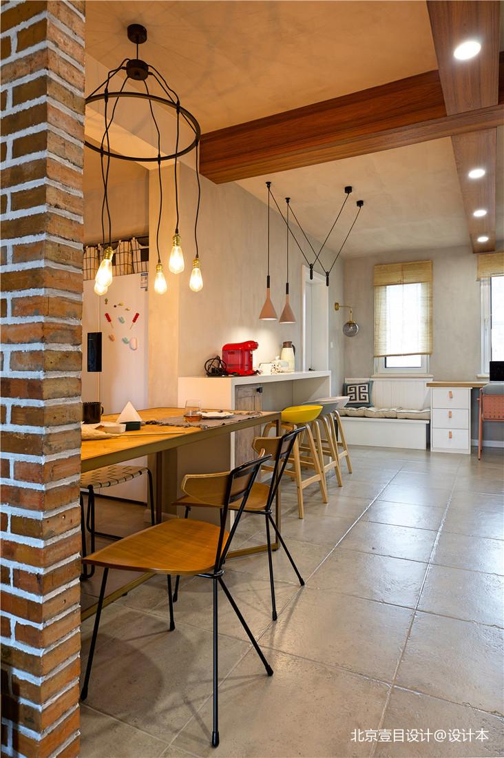 温馨83平北欧三居餐厅美图