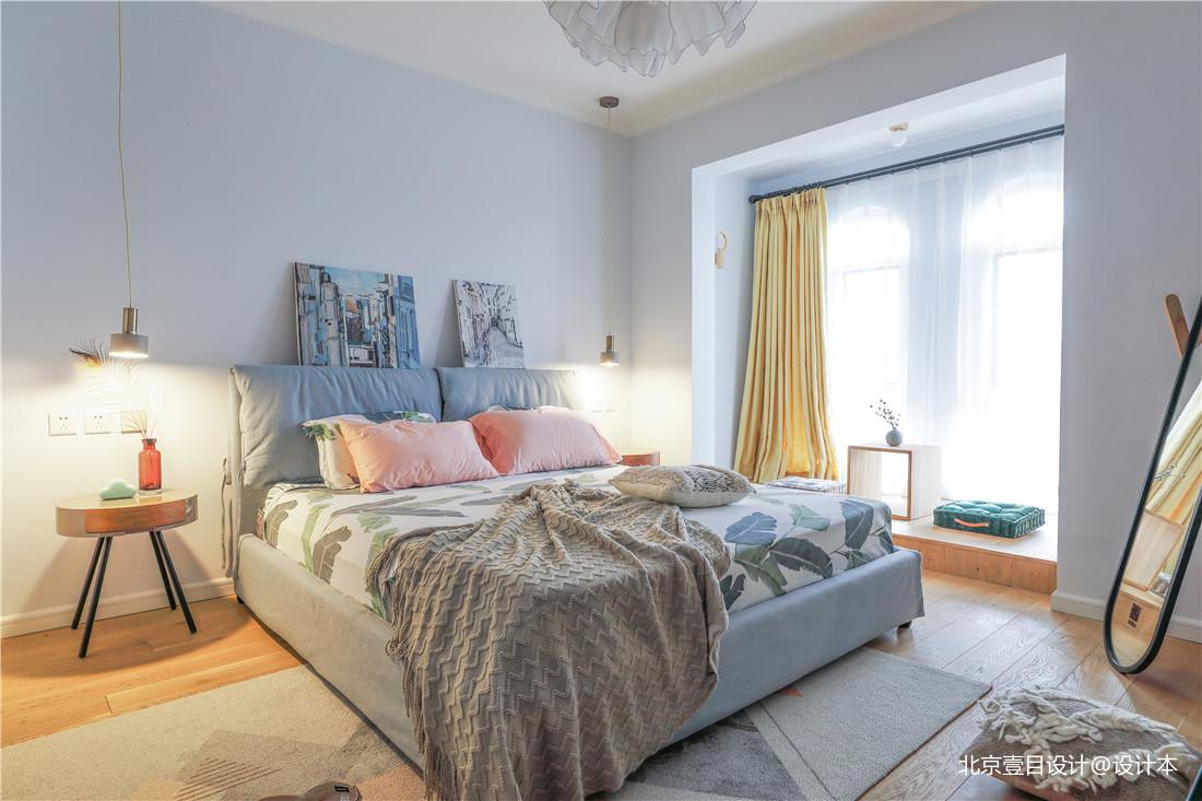 华丽95平北欧三居卧室装饰图