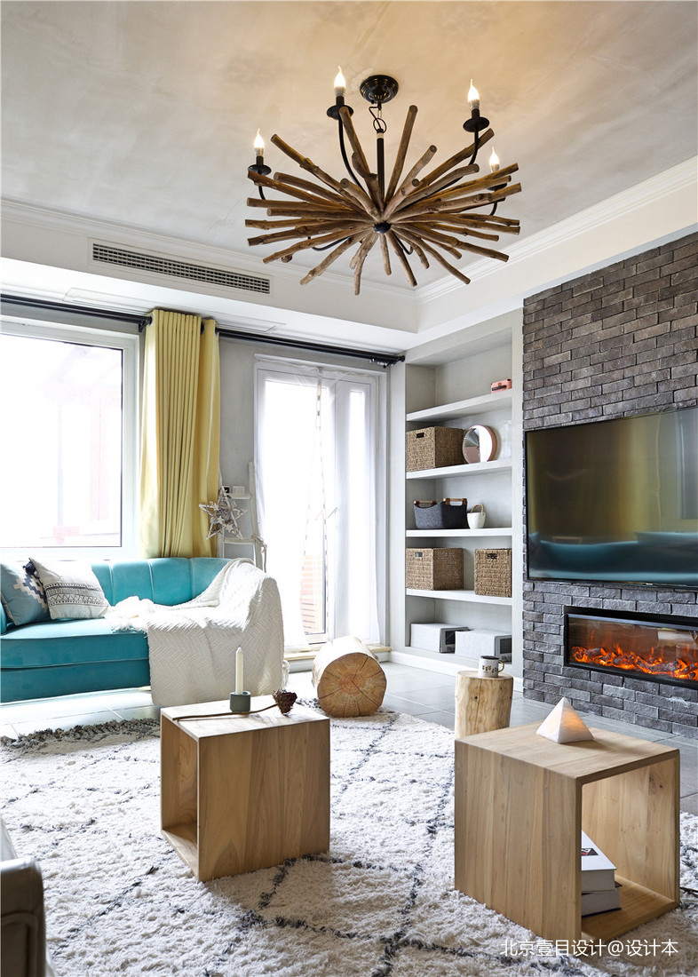 优美119平北欧三居客厅装饰图