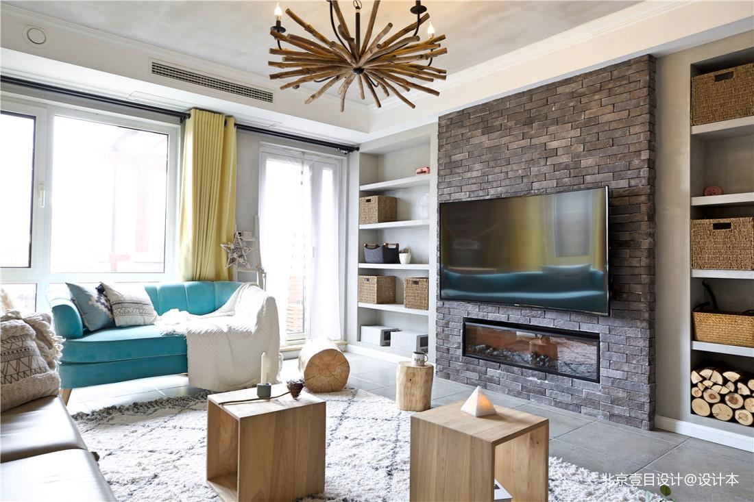 质朴130平北欧三居客厅设计美图