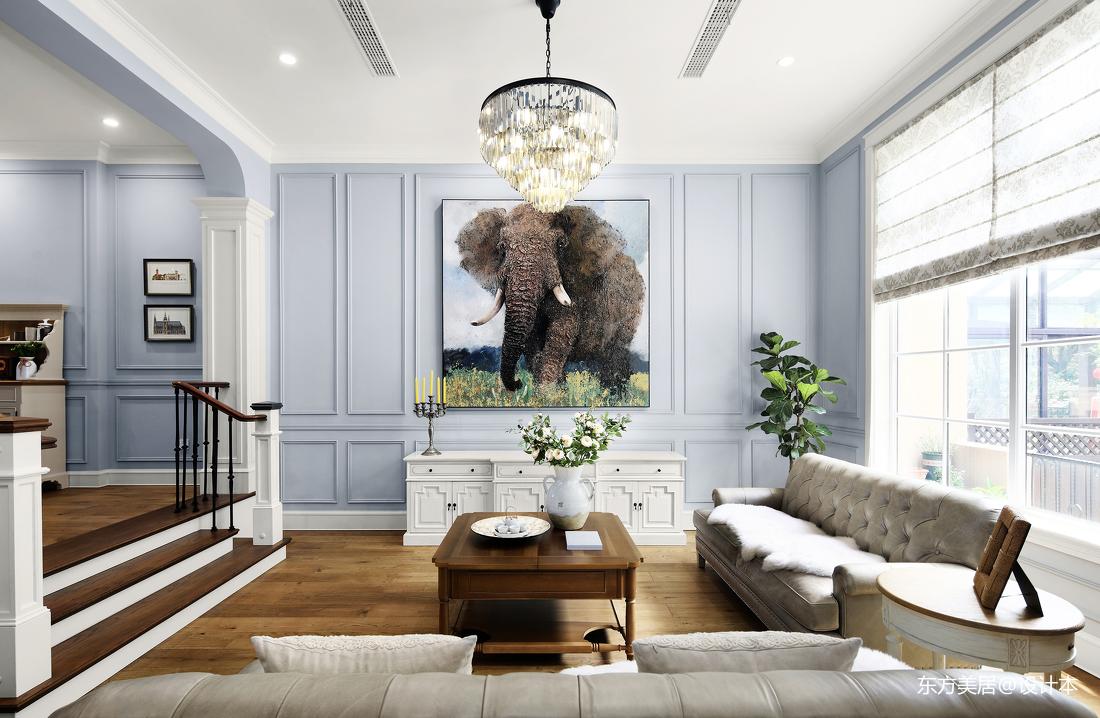 质朴380平美式别墅客厅效果图欣赏