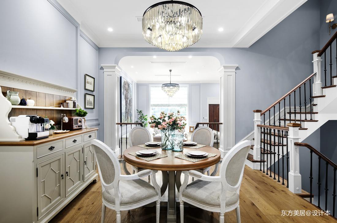 优美576平美式别墅餐厅装修案例