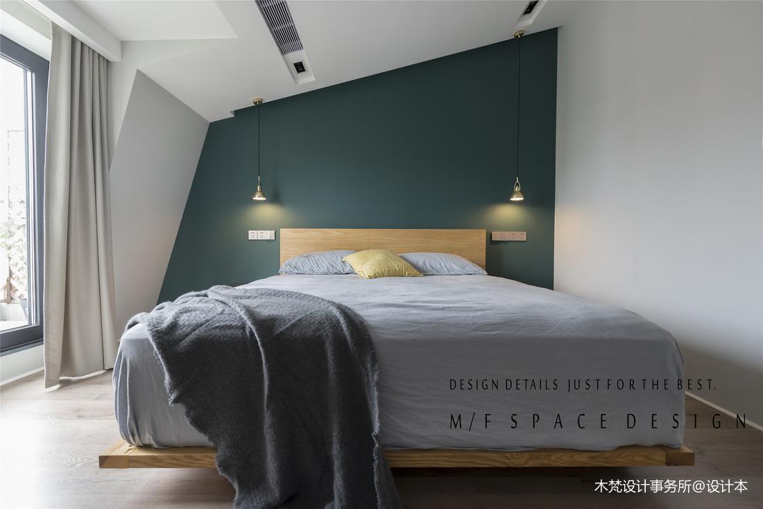 温馨72平简约三居卧室装潢图