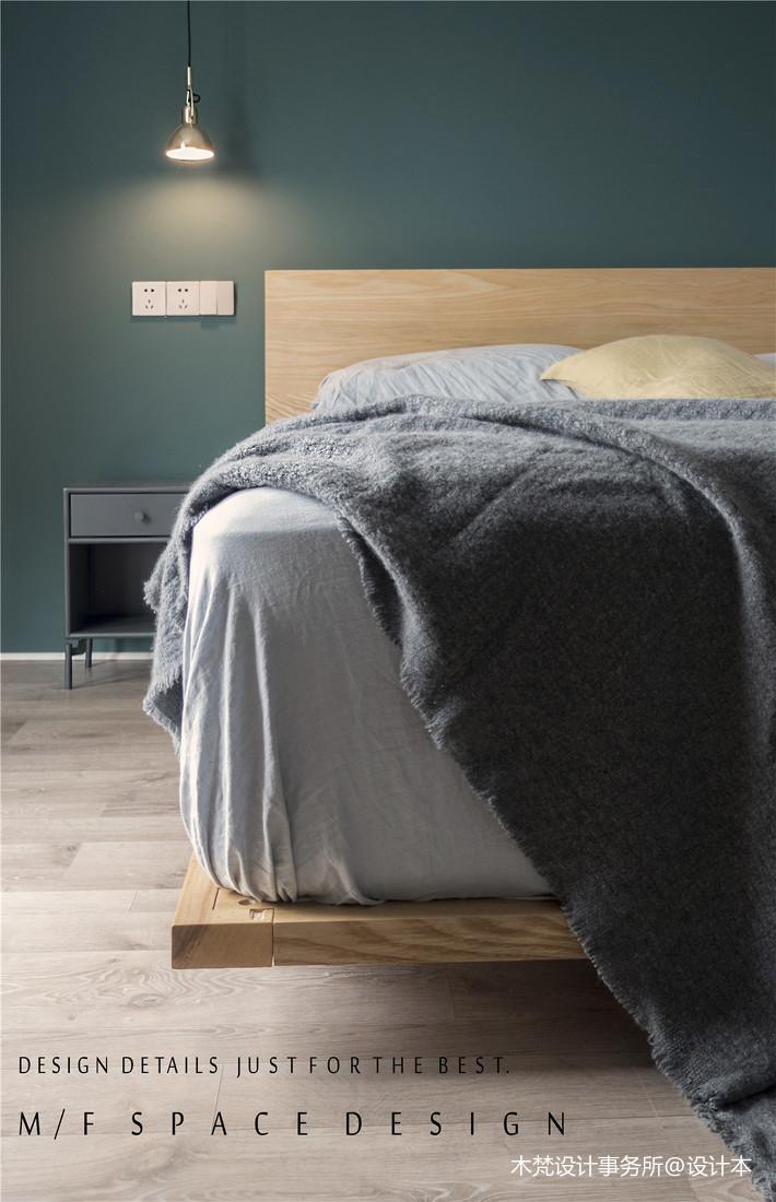 精致104平简约三居卧室装修设计图