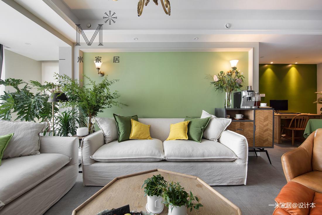 华丽74平美式二居客厅装饰美图